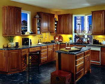 Gold star cabinets kraftmaid leedo apartment renovations for Bj kitchen cabinets